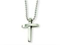 Chisel Stainless Steel Cross Pendant Necklace - 18 inches