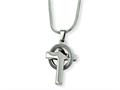 Chisel Stainless Steel Cross In Circle Pendant Necklace - 18 inches