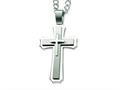 Chisel Stainless Steel Cross Pendant Necklace - 24 inches