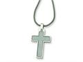 Chisel Stainless Steel Cross Pendant Necklace - 20 inches