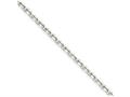 Chisel Stainless Steel 3.4mm 24in Cable Chain Necklace