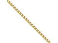 Chisel Stainless Steel Ip Gold-plated 2.4mm 24in Box Chain Necklace