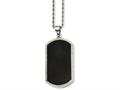 Chisel Stainless Steel Black-plated Laser Cut Dog Tag  Necklace