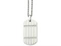 Chisel Stainless Steel CZ Dog Tag Pendant Necklace