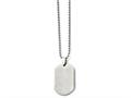 Chisel Stainless Steel Polished Dog Tag Pendant Necklace