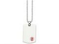 Chisel Stainless Steel Dog Tag Medical Pendant Necklace
