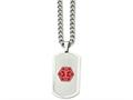 Chisel Stainless Steel Dog Tag Medical Necklace