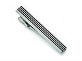 Chisel Stainless Steel Brushed Black Rubber Tie Bar