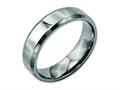 Chisel Titanium Beveled Edge 6mm Polished Wedding Band