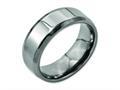 Chisel Titanium Beveled Edge 8mm Polished Wedding Band