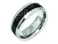 Chisel Titanium Black Carbon Fiber 8mm Polished Wedding Band