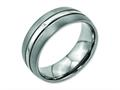Chisel Titanium Grooved 8mm Brushed And Polished Weeding Band