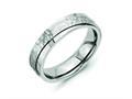 Chisel Titanium 6mm Ridged Edge Hammered And Polished Wedding Band