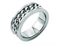 Chisel Titanium 7mm Chain Inlay Brushed Weeding Band