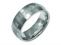 Chisel Titanium 8mm Laser Design Brushed Wedding Band