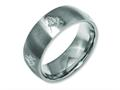 Chisel Titanium 8mm Laser Design Brushed Wedding Band