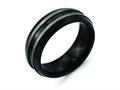 Chisel Titanium Black Ti Two-tone 8mm Polished Wedding Band