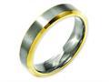 Chisel Titanium 5mm Yellow Ip-plated Beveled Edge Brushed/polished Wedding Band