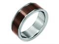 Chisel Titanium Grooved Edge 8mm Brown Ip-plated Brushed/polished Wedding Band