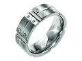Chisel Titanium 8mm Brushed And Polished Weeding Band