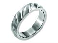 Chisel Titanium Swirl Design 6mm Satin Weeding Band