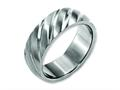 Chisel Titanium Swirl Design 8mm Satin Wedding Band
