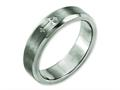 Chisel Titanium Cross Design 6mm Satin Beveled Edge Weeding Band