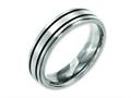 Chisel Titanium Enameled Flat 6mm Satin and Polished Weeding Band