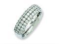 Chisel Titanium Multi-row CZ Ring