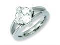 Chisel Titanium CZ Ring