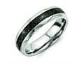 Chisel Titanium Black Carbon Fiber 6mm Polished Wedding Band