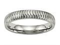 Chisel Titanium Polished Textured Ring