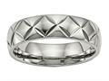 Chisel Titanium Polished bright Cut Ring