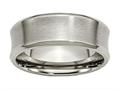 Chisel Titanium Beveled Edge Concave 8mm Brushed and Polished Weeding Band