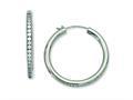 Chisel Titanium CZ Hoop Earrings