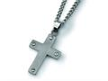 Chisel Titanium Cross with 22 inche Stainless Steel Chain Necklace
