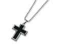 Chisel Titanium Carbon Fiber Cross Necklace - 22 inche Stainless steel chain