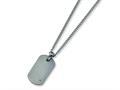 Chisel Titanium Diamond Accent Necklace - 22 inches