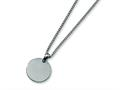 Chisel Titanium Brushed Round Necklace - 22 inche Stainless steel chain