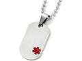 Chisel Titanium Medical Jewelry Dog Tag Pendant Necklace Stainless steel 20 inch chain