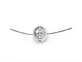 Chisel Titanium CZ Pendant With Polished Stainless Steel Wire Necklace