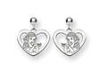 Disney Snow White Heart Dangle Post Earri