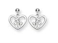 Disney Cinderella Heart Dangle Post Earri