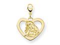 Disney Aurora Heart Lobster Clasp Charm