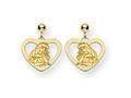 Disney Aurora Heart Dangle Post Earrings