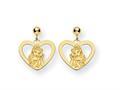 Disney Belle Heart Dangle Post Earrings
