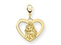 Disney Belle Heart Lobster Clasp Charm