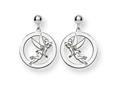 Disney Tinker Bell Round Dangle Post Earr