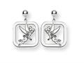 Disney Tinker Bell Square Dangle Post Ear