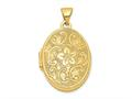 Finejewelers 14k Scrolled Floral Locket Pendant Necklace 18 inch chain included